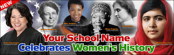 National Women's History Month Banner