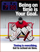 hockey student truancy prevention poster