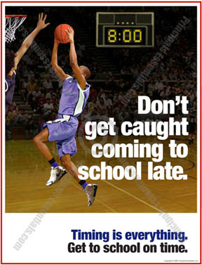 Mens Basketball School Tardy Poster